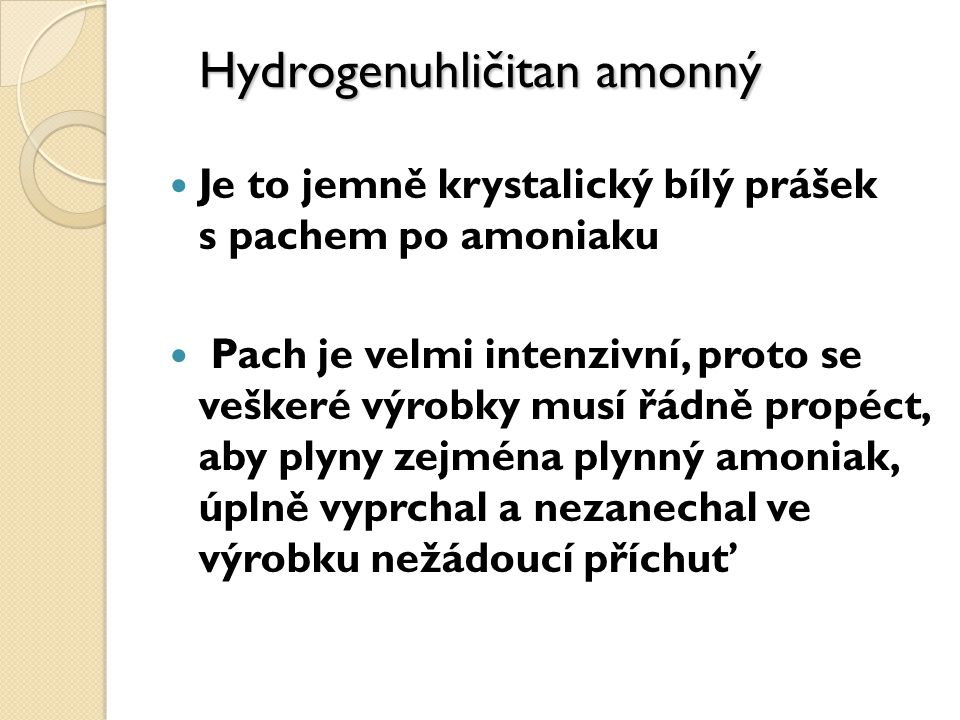 Hydrogenuhličitan amonný