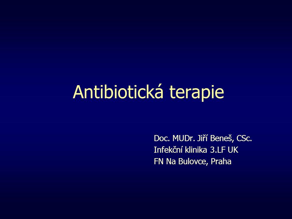 Antibiotická terapie Doc. MUDr. Jiří Beneš, CSc.
