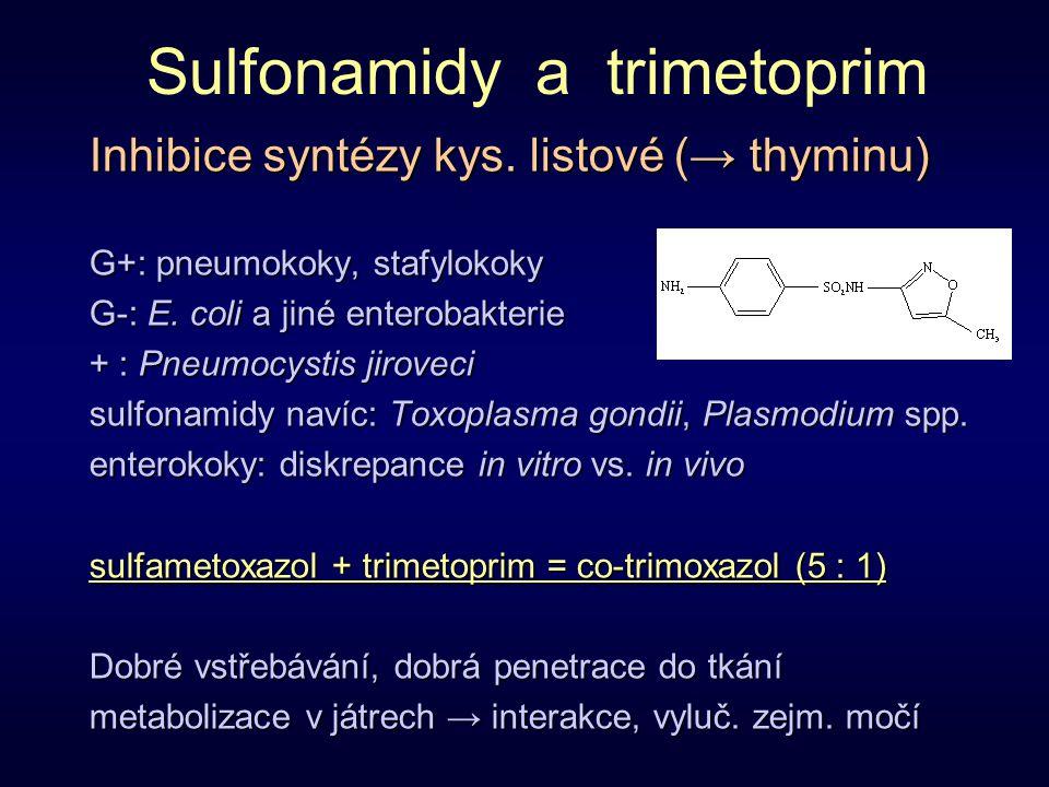 Sulfonamidy a trimetoprim