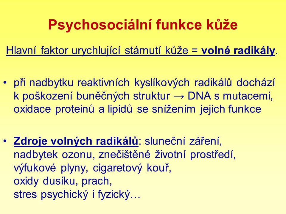 Psychosociální funkce kůže