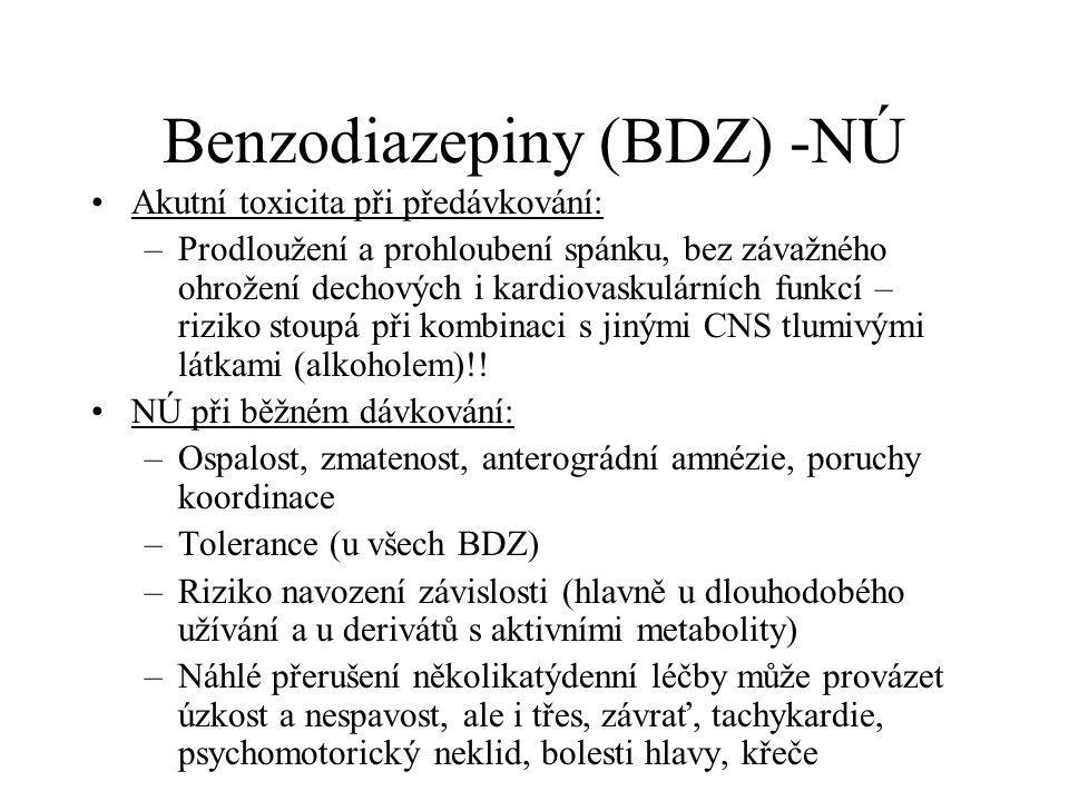 Benzodiazepiny (BDZ) -NÚ