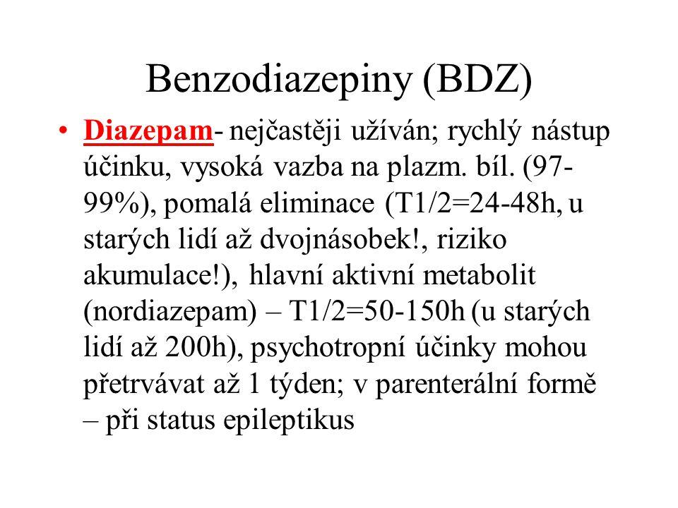 Benzodiazepiny (BDZ)