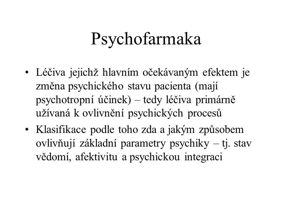 Psychofarmaka