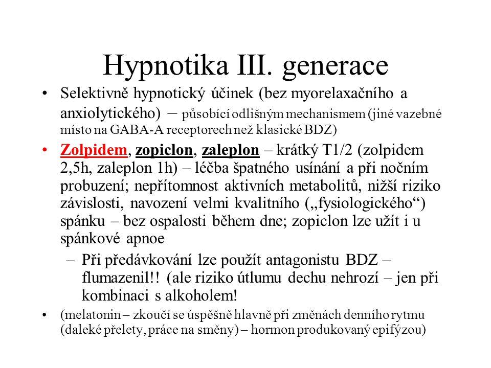 Hypnotika III. generace