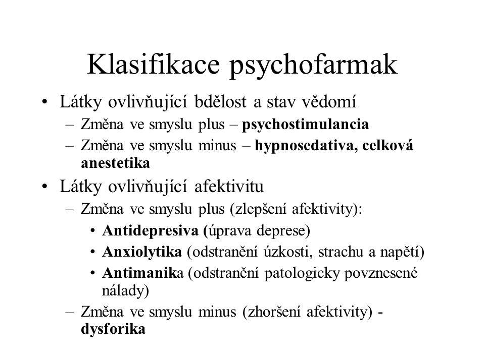 Klasifikace psychofarmak