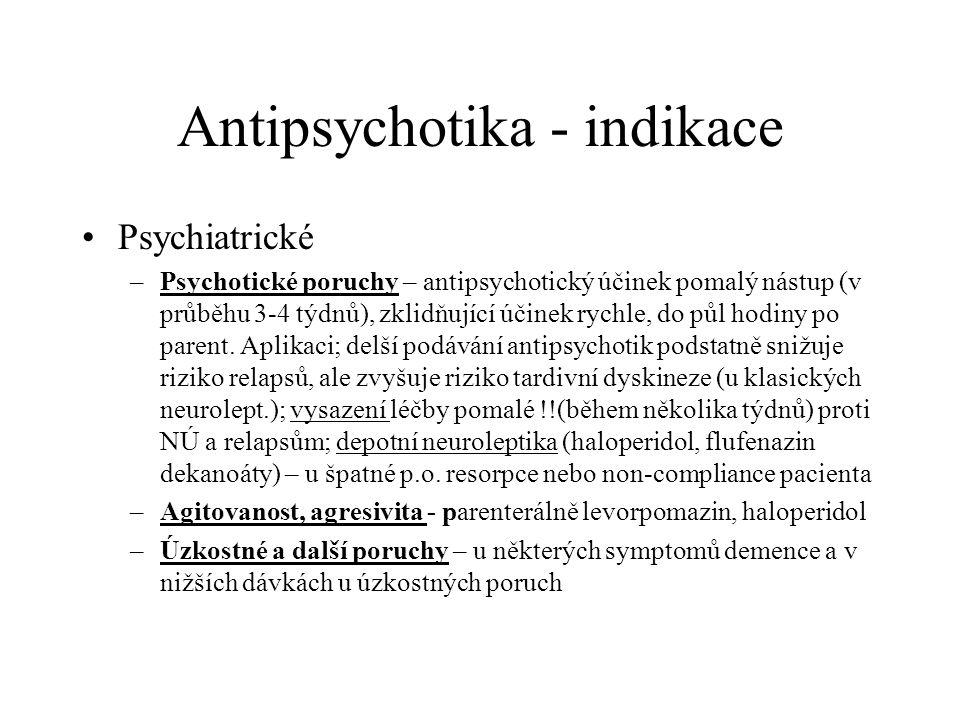 Antipsychotika - indikace