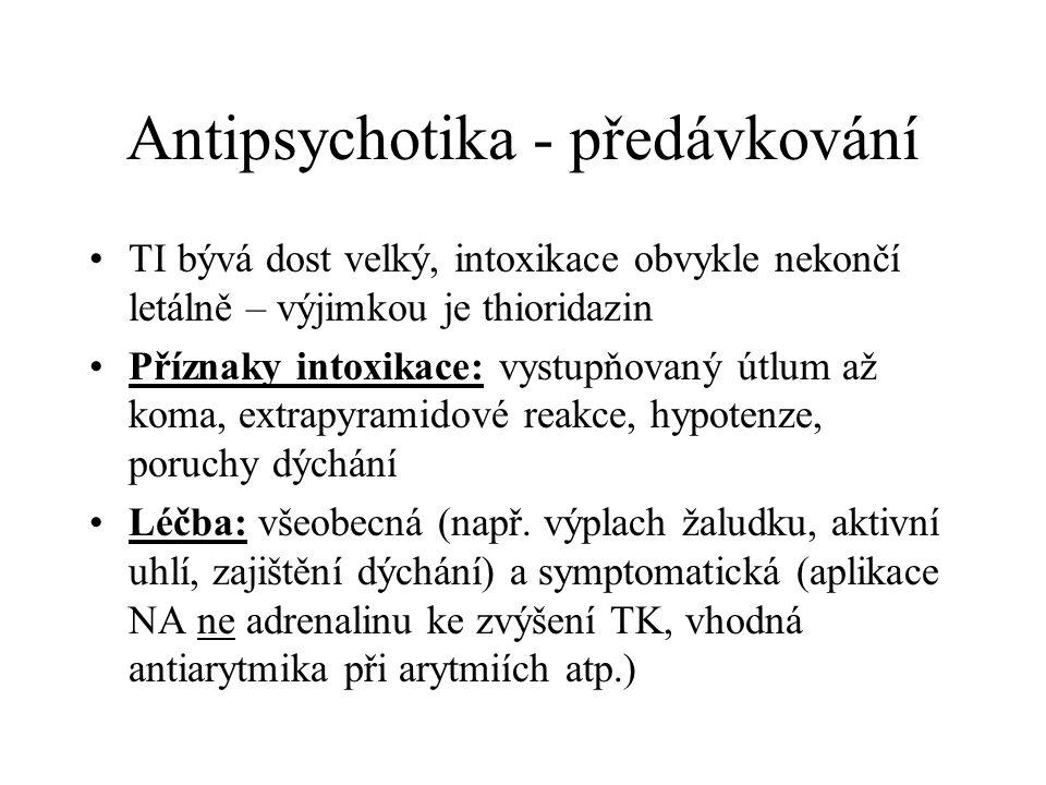 Antipsychotika - předávkování
