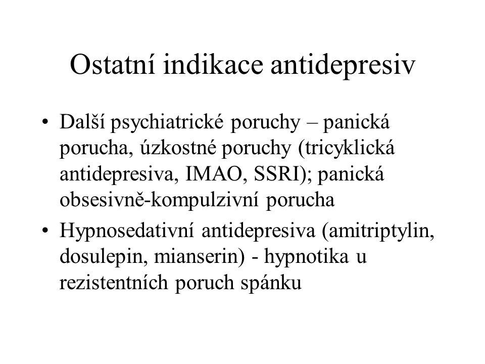 Ostatní indikace antidepresiv