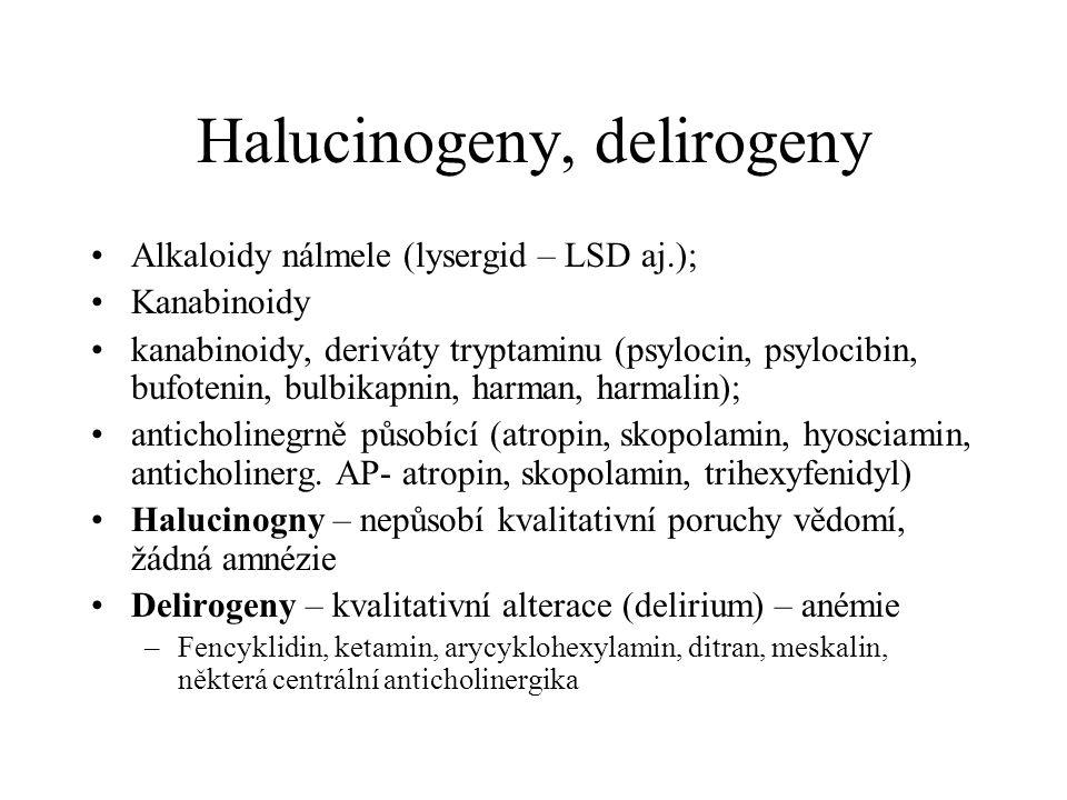 Halucinogeny, delirogeny