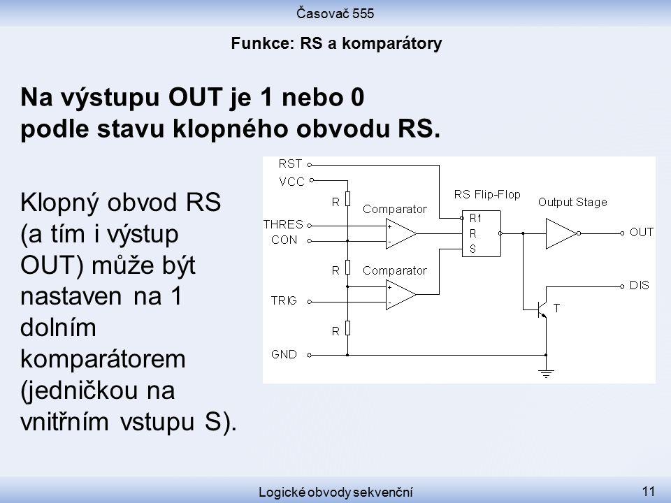 Funkce: RS a komparátory