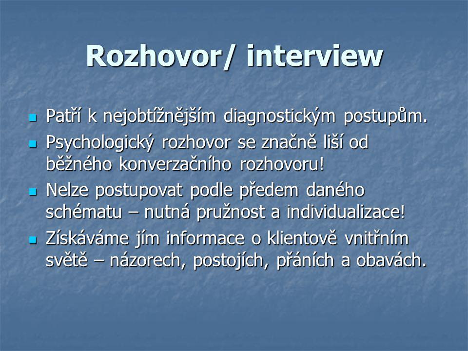 Rozhovor/ interview Patří k nejobtížnějším diagnostickým postupům.