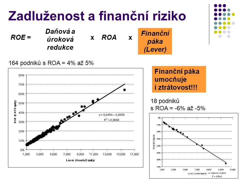 Zadluženost a finanční riziko