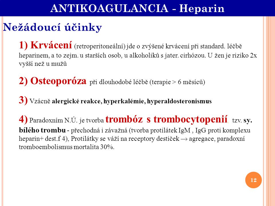 ANTIKOAGULANCIA - Heparin