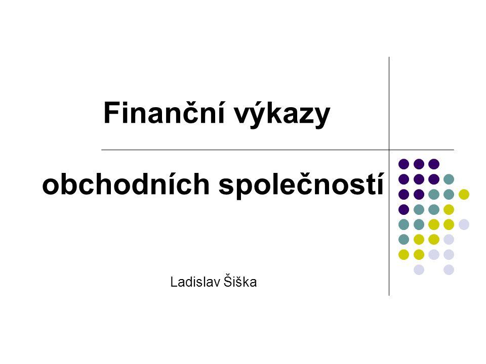 Finanční výkazy obchodních společností