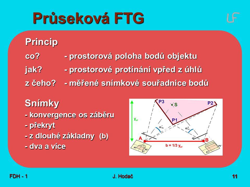 Průseková FTG Technologický postup Přesnost, výhody a omezení