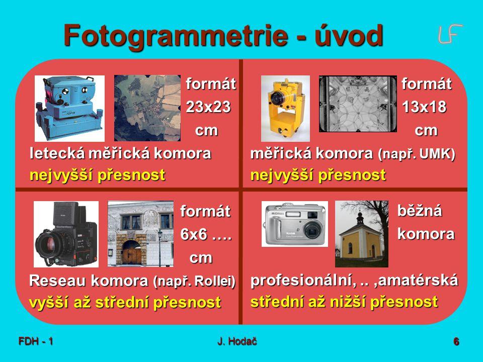 Jednosnímková FTG Základní pojmy snímek překreslený snímek fotomozaika
