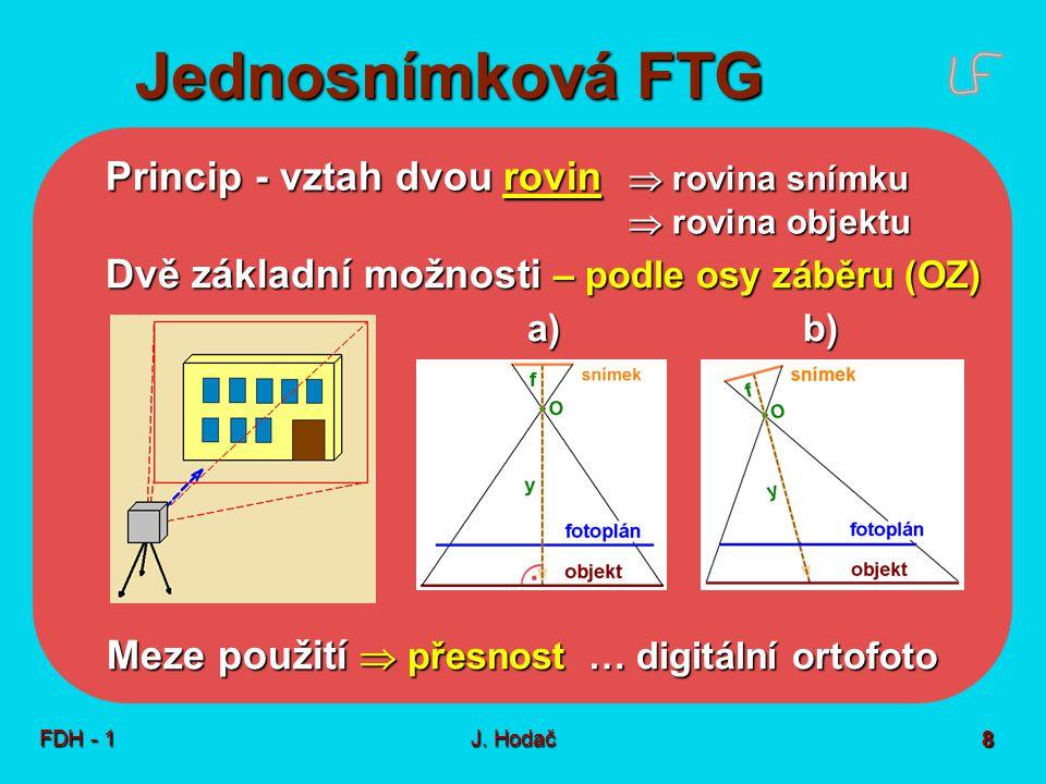 Jednosnímková FTG Technologický postup