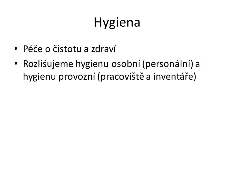 Hygiena Péče o čistotu a zdraví