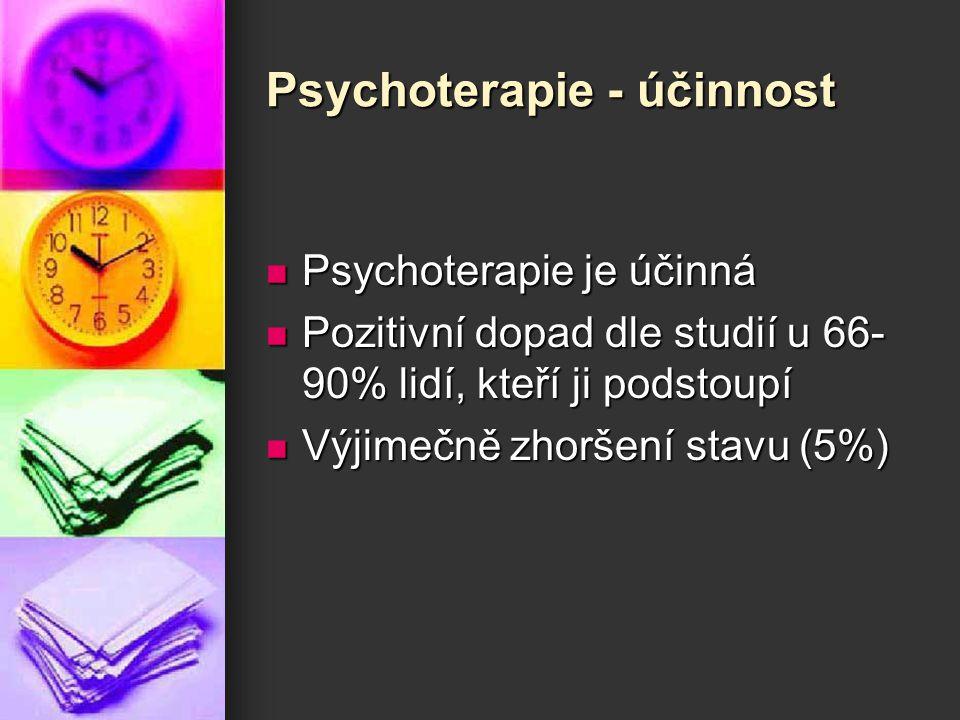 Psychoterapie - účinnost