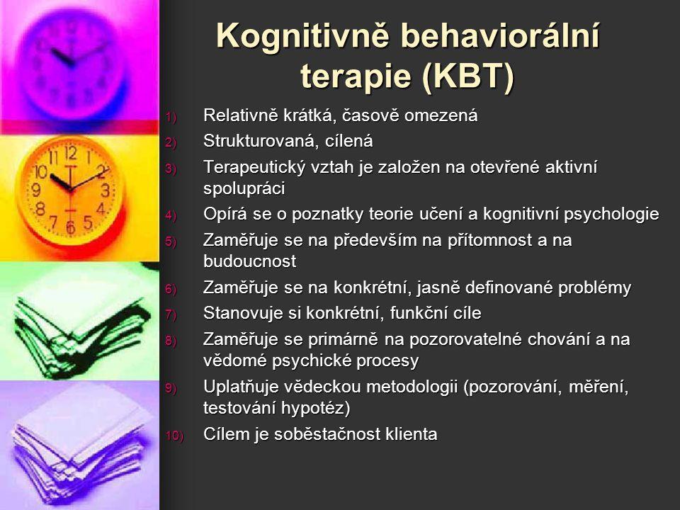 Kognitivně behaviorální terapie (KBT)