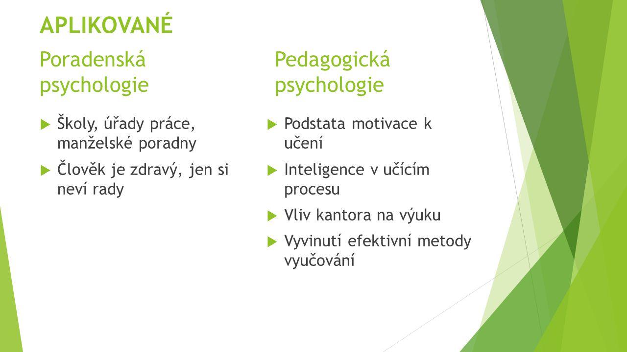 Poradenská Pedagogická psychologie psychologie