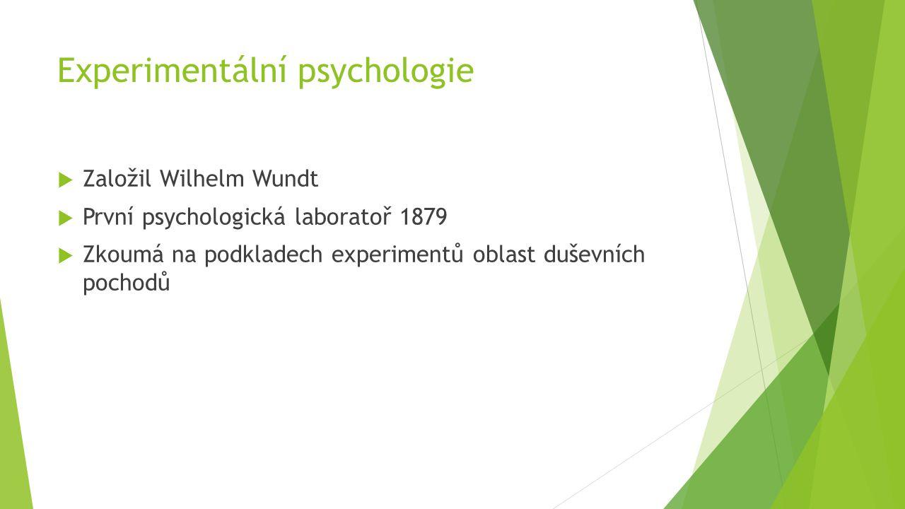 Experimentální psychologie