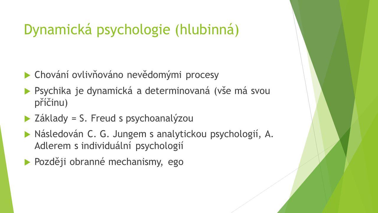 Dynamická psychologie (hlubinná)
