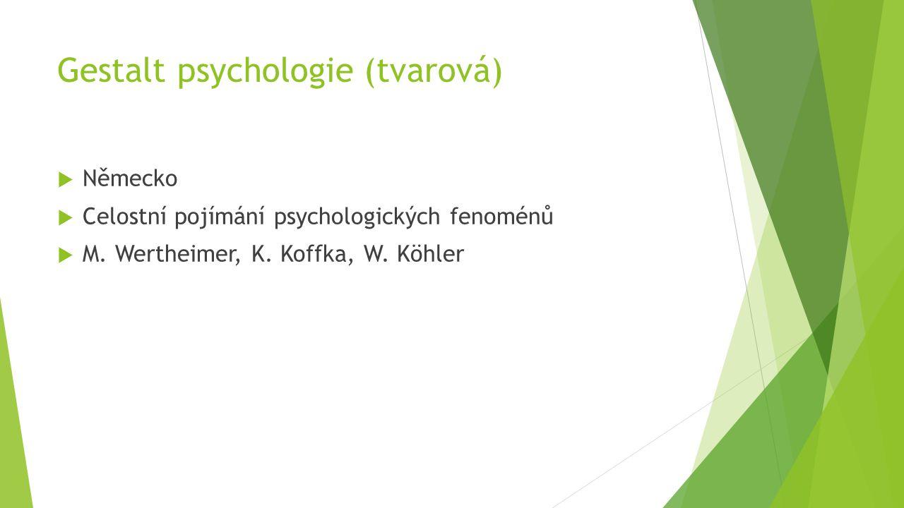 Gestalt psychologie (tvarová)