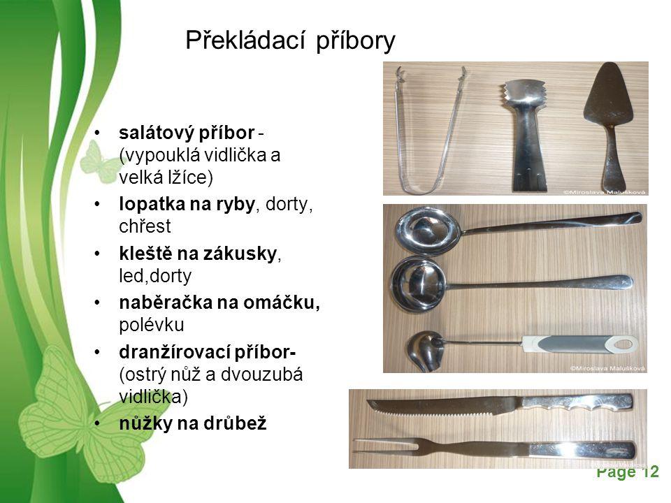 Překládací příbory salátový příbor - (vypouklá vidlička a velká lžíce)