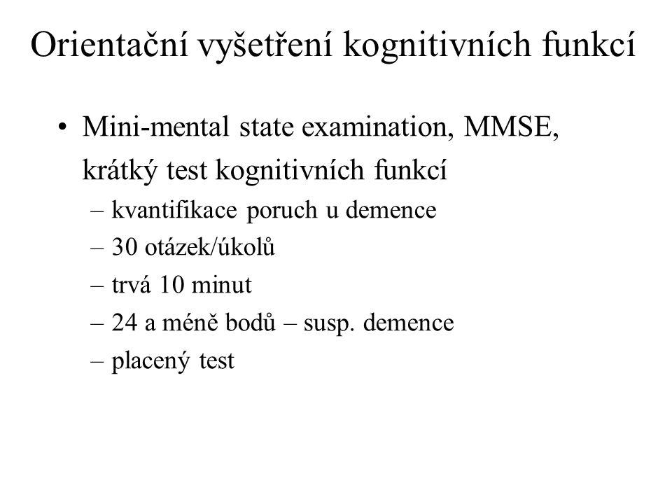 Orientační vyšetření kognitivních funkcí