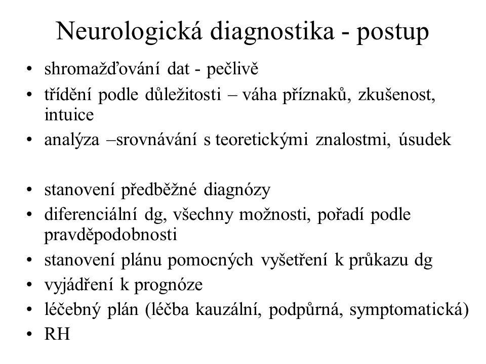 Neurologická diagnostika - postup
