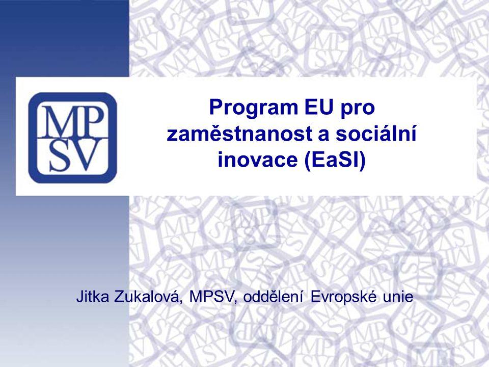 Program EU pro zaměstnanost a sociální inovace (EaSI)