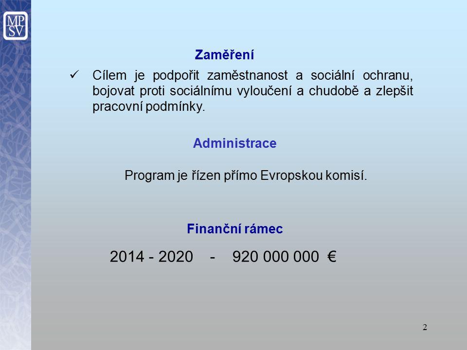 Program je řízen přímo Evropskou komisí.