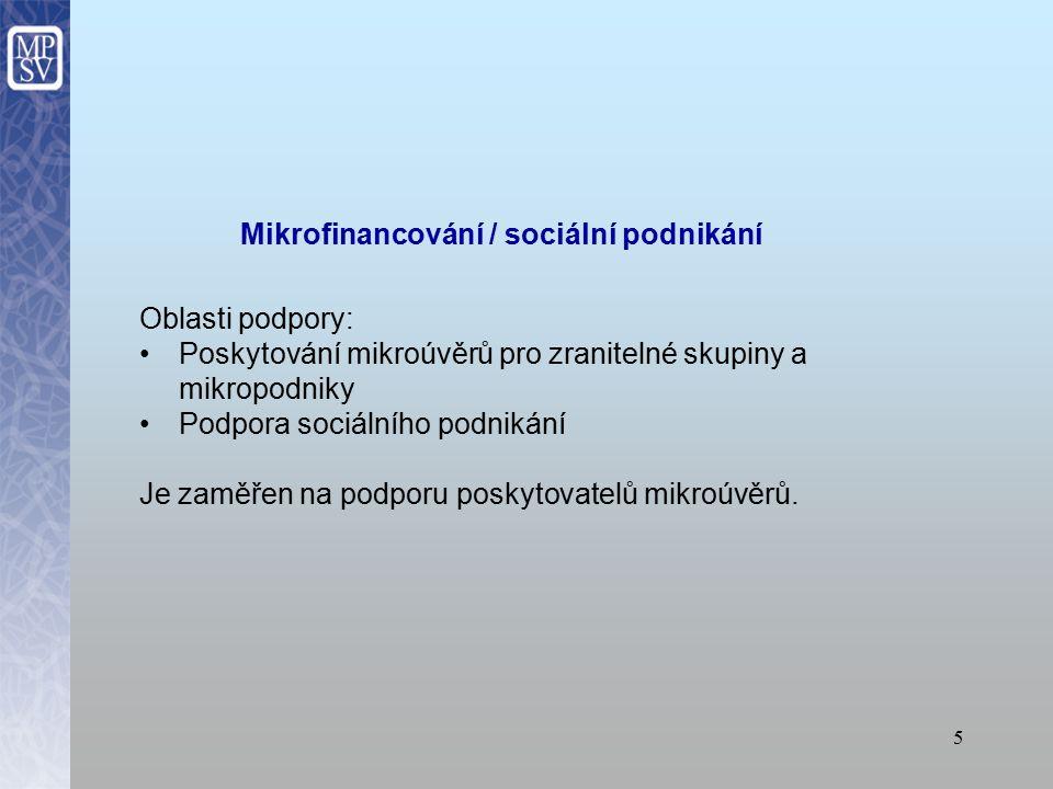 Mikrofinancování / sociální podnikání