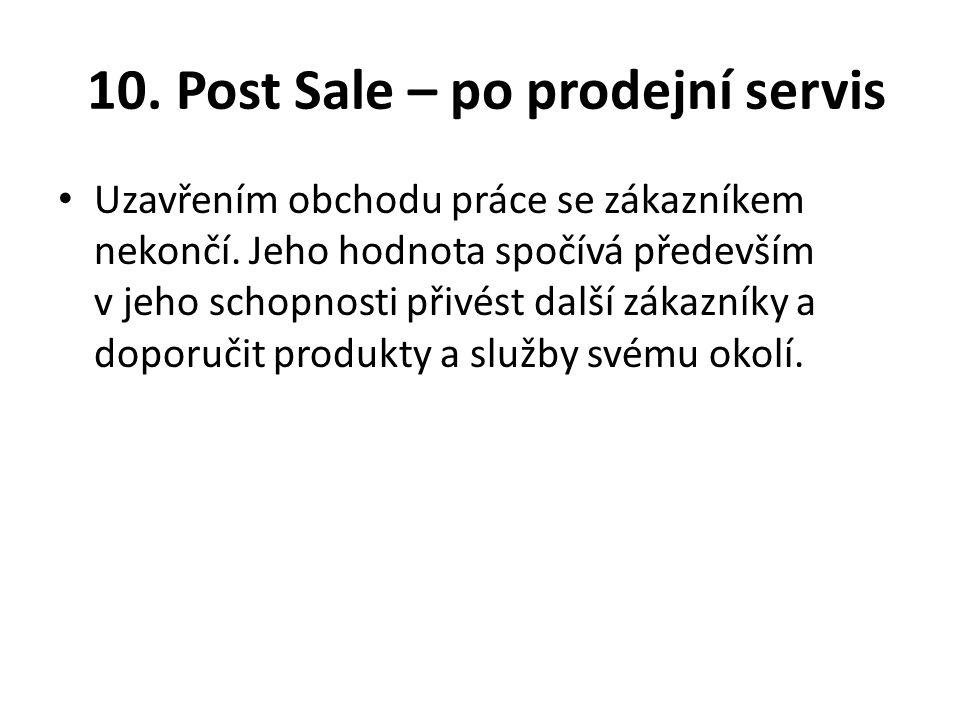 10. Post Sale – po prodejní servis
