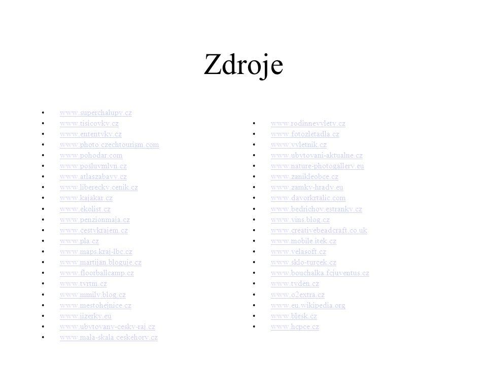 Zdroje www.superchalupy.cz www.tisicovky.cz www.ententyky.cz