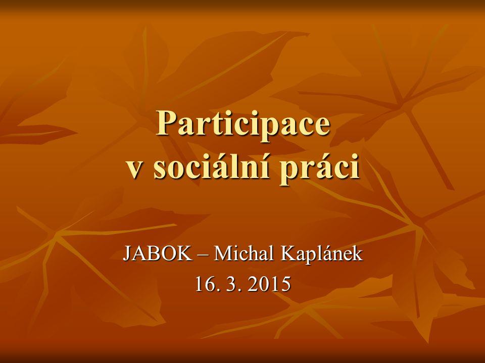 Participace v sociální práci