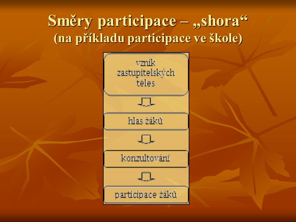 """Směry participace – """"shora (na příkladu participace ve škole)"""
