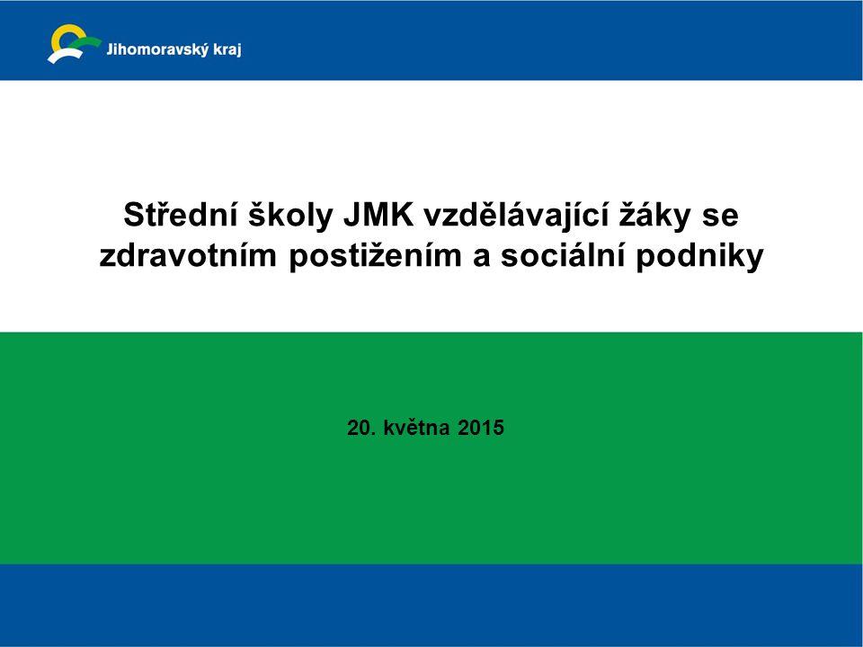 Střední školy JMK vzdělávající žáky se zdravotním postižením a sociální podniky