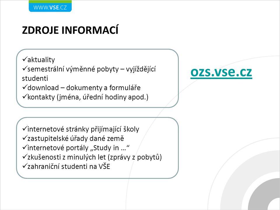 ozs.vse.cz ZDROJE INFORMACÍ aktuality