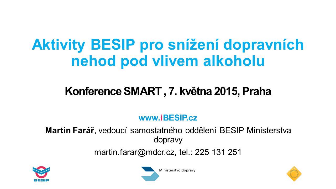 Aktivity BESIP pro snížení dopravních nehod pod vlivem alkoholu Konference SMART , 7. května 2015, Praha