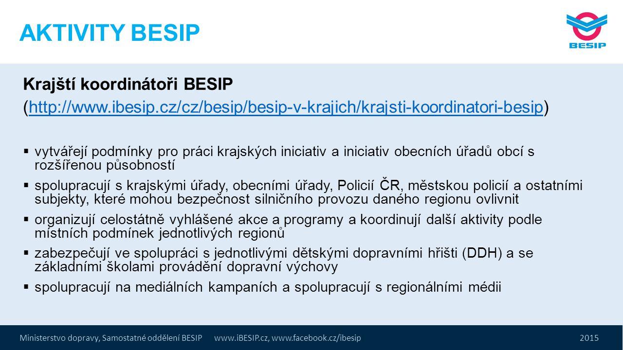 AKTIVITY BESIP Krajští koordinátoři BESIP