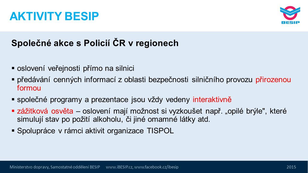 AKTIVITY BESIP Společné akce s Policií ČR v regionech