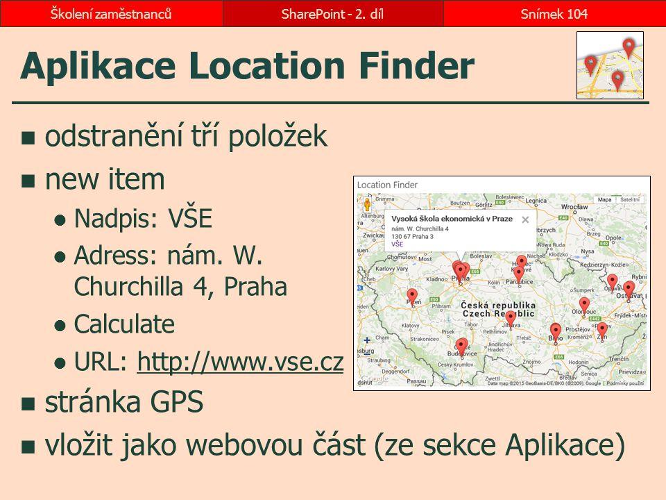 Aplikace Location Finder