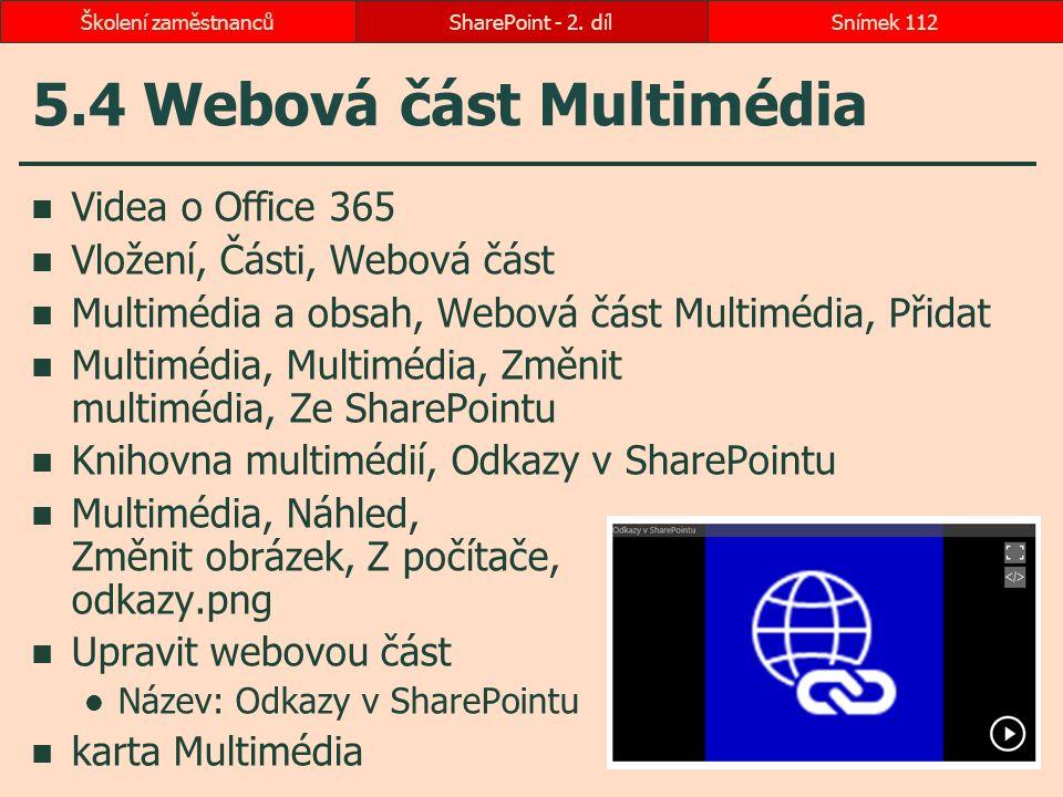 5.4 Webová část Multimédia