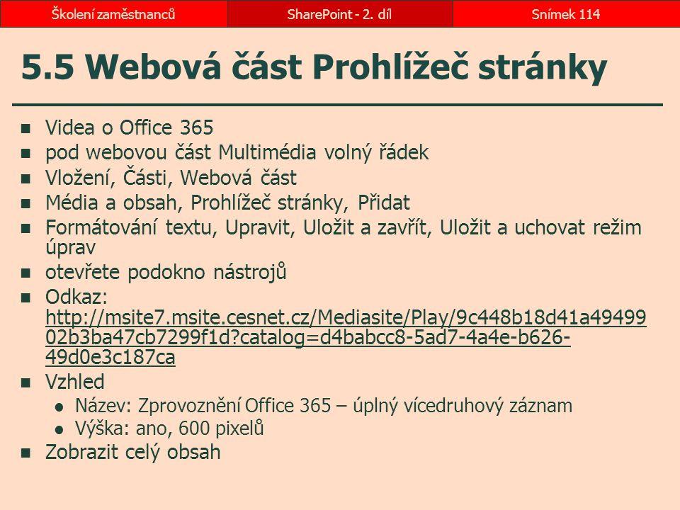 5.5 Webová část Prohlížeč stránky