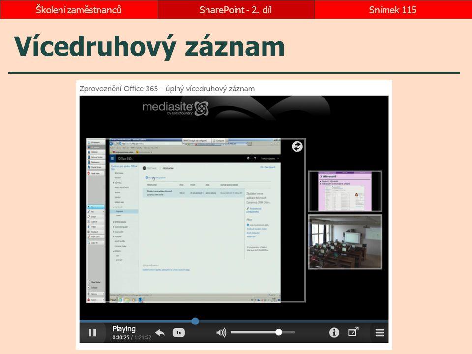 Školení zaměstnanců SharePoint - 2. díl Vícedruhový záznam