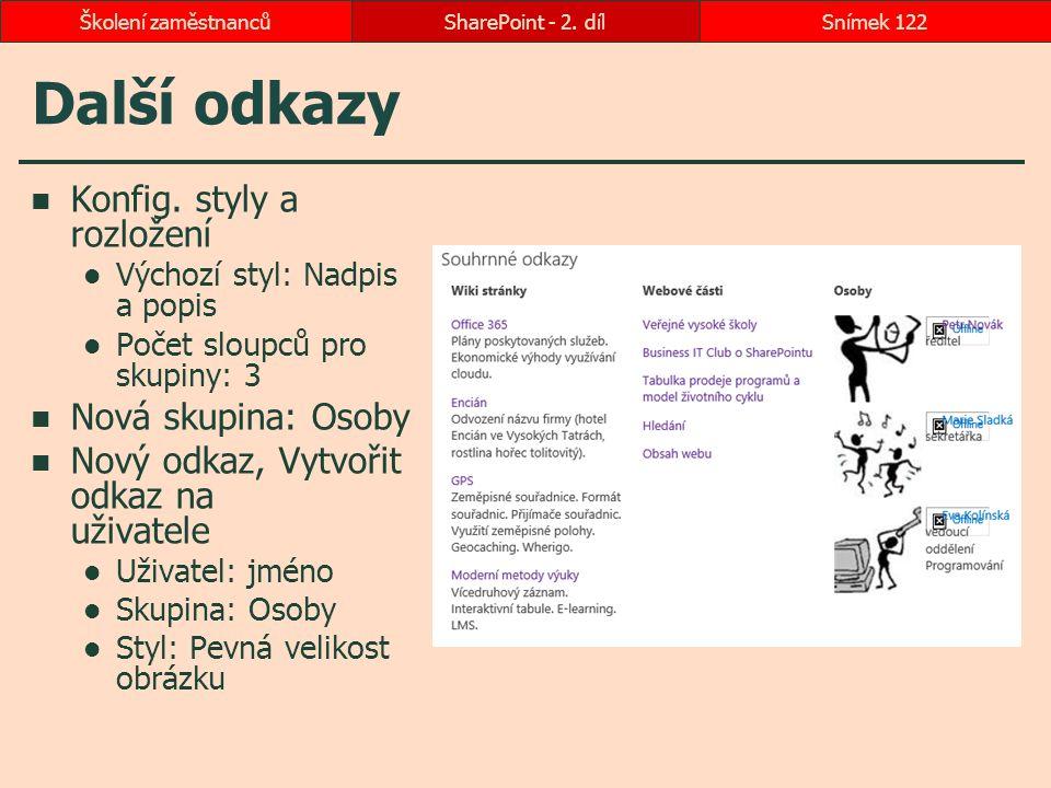 Další odkazy Konfig. styly a rozložení Nová skupina: Osoby