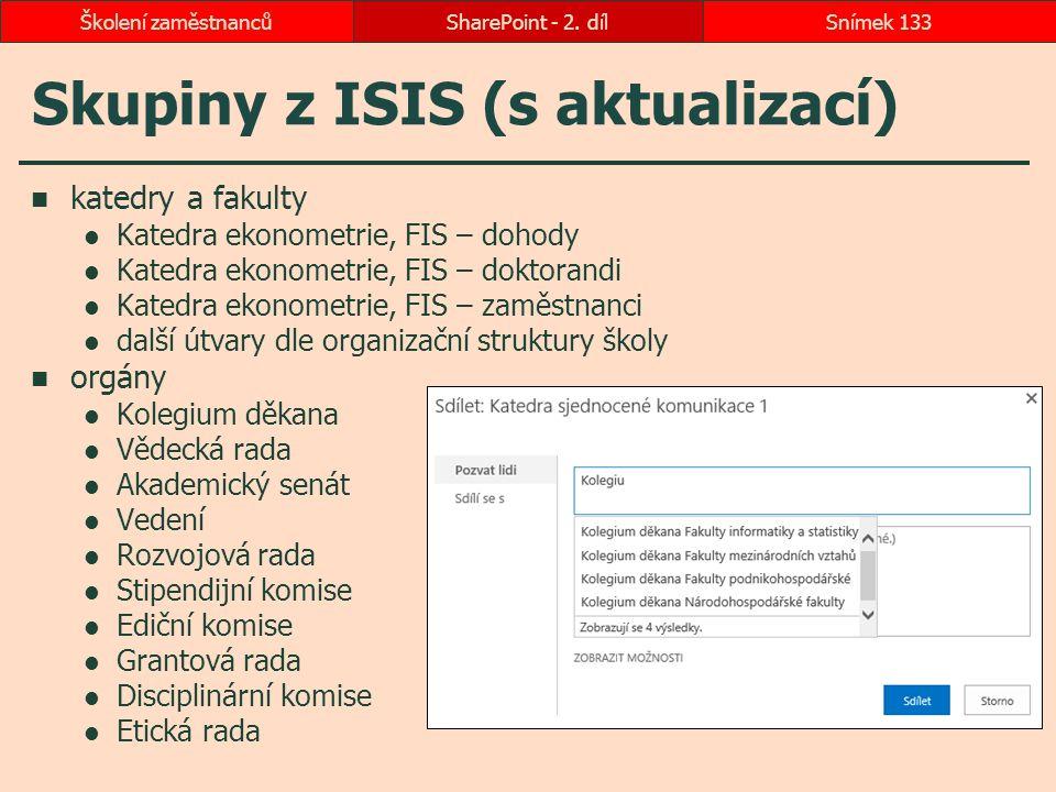 Skupiny z ISIS (s aktualizací)