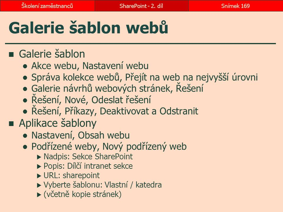 Galerie šablon webů Galerie šablon Aplikace šablony